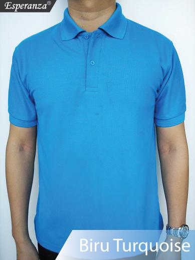 Kaos-Polo-Biru-Turquoise
